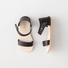 Ani Sandal, Zuzii. Handmade in the USA featuring anti-skid rubber soles and vegetable tanner leather with easy press stud closures. The summer sandal has landed. -Christine, Ahoy Tees #ahoysfavoritethings