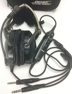 2a1110dd49d Bose x aviation pilot headset ahx-32-01 dual plugs active noise cancellation