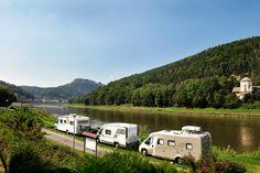 Sächsische Schweiz - Camping Königstein direkt an der Elbe
