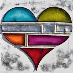 Expression de couleurs - Danielle Champoux   #Art #Coeur #Toile #peinture #artist #artiste #artwork #homedecor #GalerieDart #ArtGallery Artgallery, Galerie D'art, Expressions, Artwork, Symbols, Flowers, Painting, Color, How To Paint