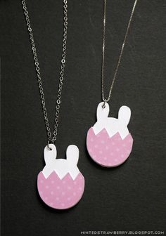 DIY Bunny-in-an-Egg Paper Necklace Tutorial