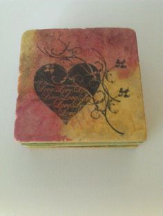 Stone Tile Coasters With Alcohol Ink in by MyLittleFelix on Etsy, http://www.etsy.com/shop/MyLittleFelix $18.00