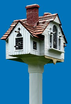 This Guy Makes Beautiful Reproductions Of Real Houses Or Ones From Paintings Into Birdhouses.