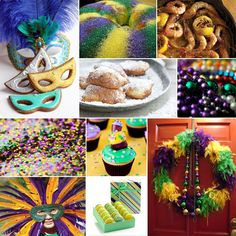 decorating for Mardi Gras-- board by deep friend kudzu