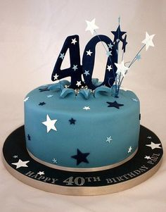 Birthday Cake Designs For Men - Share this image!Save these birthday cake designs for men for later by share this image, a 40th Birthday Cakes For Men, 40th Cake, Homemade Birthday Cakes, Cake Birthday, Birthday Ideas, Happy Birthday, Happy 40th, Cake Design For Men, Birthday Cake Pictures