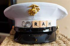Super Cute idea for a Marine Wedding!!