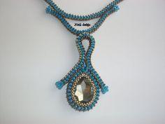 Emek Pinari Tulip Necklace Necklace Blue Necklace by NAZLI70, $66.00