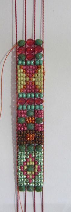 Bead loom bracelet Traditional