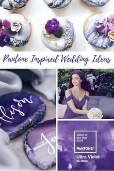 Plan your Pantone inspired wedding now! Pantone Color of the year 2018 is Ultra Violet and we have details and ideas to inspire you. #pantone2018 #pantoneinspiration #inspiredwedding #weddinginspiration