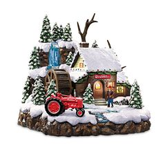 Farmall Super M Tractor Country Mill Sculpture Christmas Farm, Christmas Villages, Christmas Themes, Christmas Crafts, Christmas Ornaments, Holiday Decor, Christmas Houses, Xmas, Farmall Super M