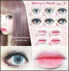Gyaru Makeup, Ulzzang Makeup, Kawaii Makeup, Doll Makeup, Cute Makeup, Makeup Inspo, Makeup Inspiration, Makeup Tips, Beauty Makeup