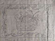 Market Basket Rug Hooking/Punch Needle Pattern by LCsWoolnSilk