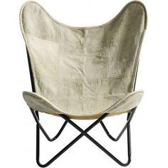 Mollegaarden Nordal Stuhl   Butterfly Chair   Canvas