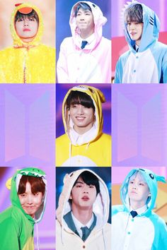 BTS in their onesies!!! TOO CUTE!!