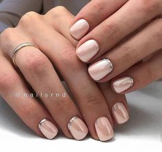 37 ideas reverse french manicure toes for 2019 Reverse French Manicure, French Manicure Acrylic Nails, French Pedicure, French Tip Nails, Manicure And Pedicure, Nail Polish, Gel Manicure Designs, Nail Designs, Cute Nails
