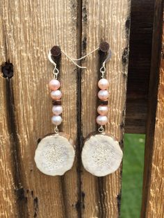 Fallow Deer Antler Sterling Silver and Pink by TineDesignsByMindi