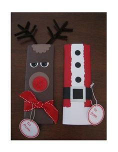 Ideas- Make as candy bar covers OR gift wrap, tree ornaments, box towers, door decor. Christmas Gifts To Make, Christmas Paper Crafts, Christmas Goodies, Christmas Projects, Holiday Crafts, Holiday Fun, Christmas Holidays, Christmas Decorations, Candy Bar Crafts