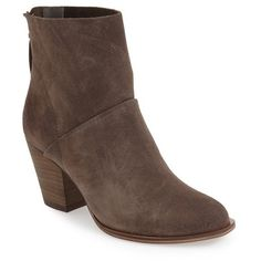 Women's Chinese Laundry 'Kind Heart' Bootie ($110) ❤ liked on Polyvore featuring shoes, boots, ankle booties, smoke grey, grey boots, gray short boots, short grey boots, gray ankle booties and block heel boots