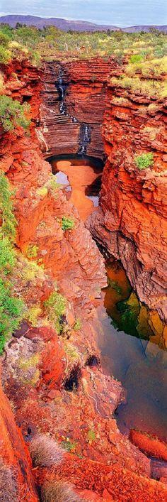 Joffre Falls  in the Red Rock Australia