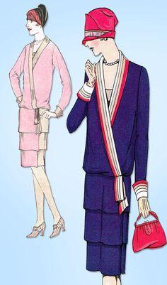 1920s VTG Ladies Home Journal Sewing Pattern 5175 FF Misses Flapper Dress Sz 40B #LadiesHomeJournal #FlapperFrock
