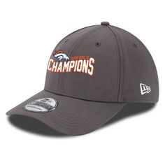 7559957f4e45e6 Men's Denver Broncos New Era Graphite Super Bowl 50 Champions 39THIRTY Flex  Hat