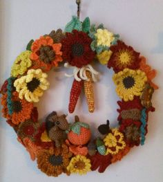 Keep On Keeping On: Crocheted Wreath and Granny Bunting for the Fall