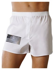 American Flag Galaxy Boxers Shorts by TooLoud