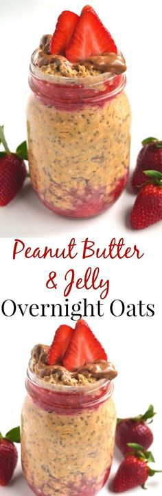 Peanut Butter and Jelly Overnight Oats take 5 minutes of prep time the night before and you will have a delicious breakfast ready to go in the morning! http://www.nutritionistreviews.com