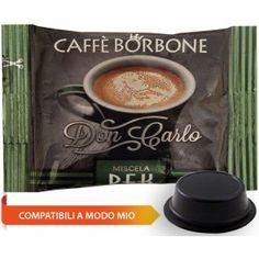 Caffè Borbone Don Carlo DEK, miscela decaffeinata, compatibile con le capsule Lavazza a modo mio senza caffeina, ma con lo stesso gusto e sapore di un buon espresso tradizionale.