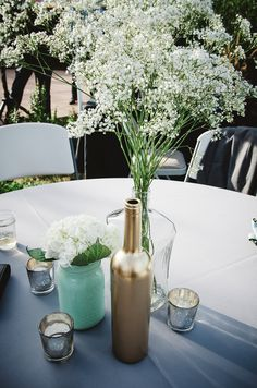 Beautiful, yet simple table centerpieces! @mytwinlens