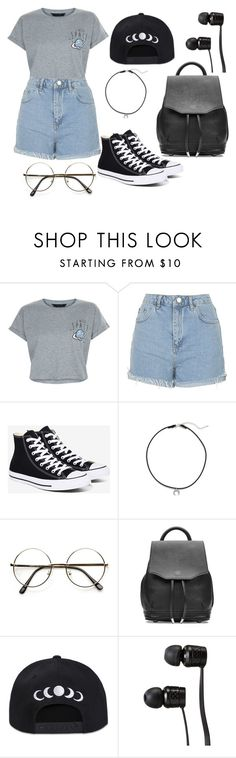 """I NEED SPACE"" by as-pretty-as-the-moon ❤ liked on Polyvore featuring New Look, Topshop, Converse, Dogeared, rag & bone and Vans"