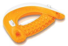 """Intex Sit N Float Inflatable Lounge, 60"""" X 39"""" (Colors May Vary) Pool Cup holder 