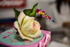 Rosa in zucchero