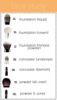 Get to know your brushes! via McKenzie Renae