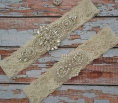 White or Ivory Rhinestone Wedding Garter, Elegant Rhinestone & Pearl Garter Set, Unique Bridal Garter Belt, Vintage Style Garter Set, R35 by SpecialTouchBridal on Etsy