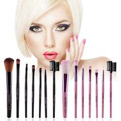 7pcs/kits Makeup Brushes Professional Set Foundation Brush Face Cosmetic Brush kits Lip Eyelash Blush Eyeshadow Brush