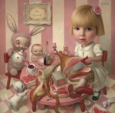 New Art - Conceptual Realism - Mark Ryden Mark Ryden, Arte Lowbrow, Meat Art, Pop Art, Arte Horror, Creepy Cute, Art Abstrait, Surreal Art, Cute Art