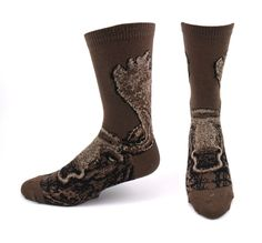 Realistic Moose Socks / Brown