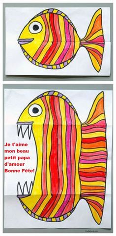 Art for kids, easy art projects by carlani - Citrus - - Folding Fish paper art project. Art for kids, easy art projects by carlani Folding Fish paper art project. Art for kids, easy art projects by carlani Paper Art Projects, Easy Art Projects, Project Projects, Children Art Projects, Art Kids, Art For Children, Drawing Projects, Art Projects For Toddlers, Paper Crafts Kids