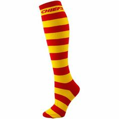 Kansas City Chiefs Ladies Red-Gold Striped Rugby Socks