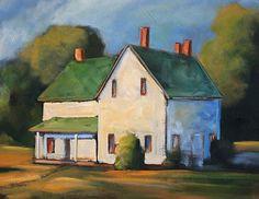 Folk Art Farm House by Toni Grote Acrylic ~ 11 x 14
