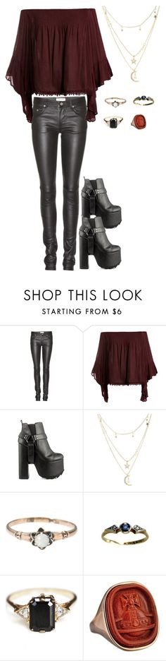 """""""untitled"""" by the-rippers-daughter ❤ liked on Polyvore featuring Yves Saint Laurent, Sans Souci, Y.R.U., Charlotte Russe, Anna Sheffield and Vivienne Westwood"""