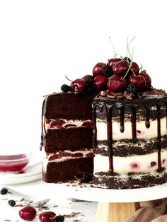 Black Forest Cake – The Jo Baker - Desserts Cake Recipes, Snack Recipes, Dessert Recipes, Food Cakes, Cupcake Cakes, Cupcakes, Gateaux Cake, Easy Smoothie Recipes, Chocolate Flavors