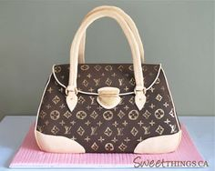 SweetThings: Louis Vuitton Purse Cake