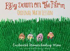 Easy Down On The Farm Ordinal Math Lesson