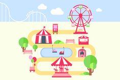 Amusement park infographic elements by TopVectors on @creativemarket