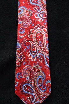 C Red ALLEN Paisley Tie Handkerchief Woven Classic Mens Necktie /& Pocket Square Set