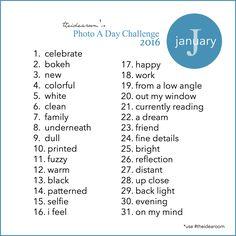January Photo A Day 2016 - The Idea Room