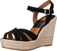 Dolce Vita Women's Tracey Black Suede Sandal 7.5 M *** Check out the image by visiting the link.