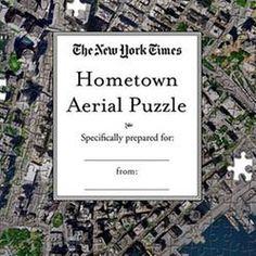 Personalized Satellite Map Jigsaw Puzzle